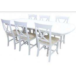 Стол обеденный Виол 1,5(1,9) (2,3) МДФ белая эмаль