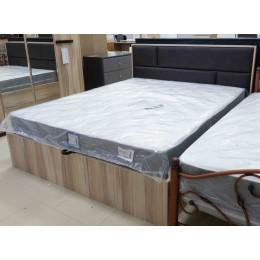 Капри Кровать 1600  с ПМ дуб рокпайл