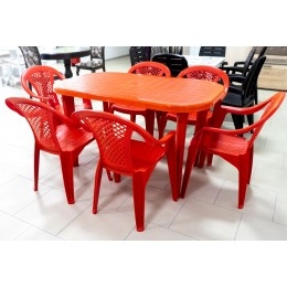 Кресло Фабио красный