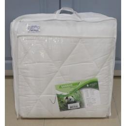 Одеяло Бамбук среднее 300гр/м чехол страйп сатин 1,5сп.