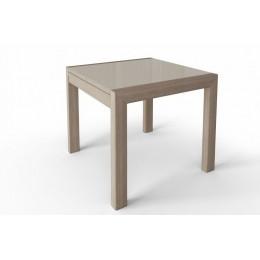 Стол обеденный Джокер Бизнес 900(1800)*700 (стекло капучино/шимо светлый)