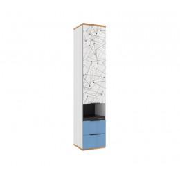 Урбан ЛД 528.070.000 Стеллаж комбинированный белый/капри синий