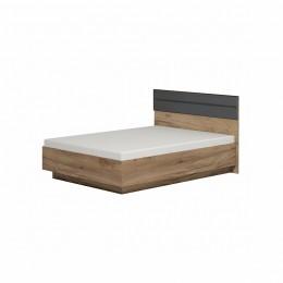 НЕО 307 (спальня) Кровать Люкс с ПМ 1600 дуб табачный крафт